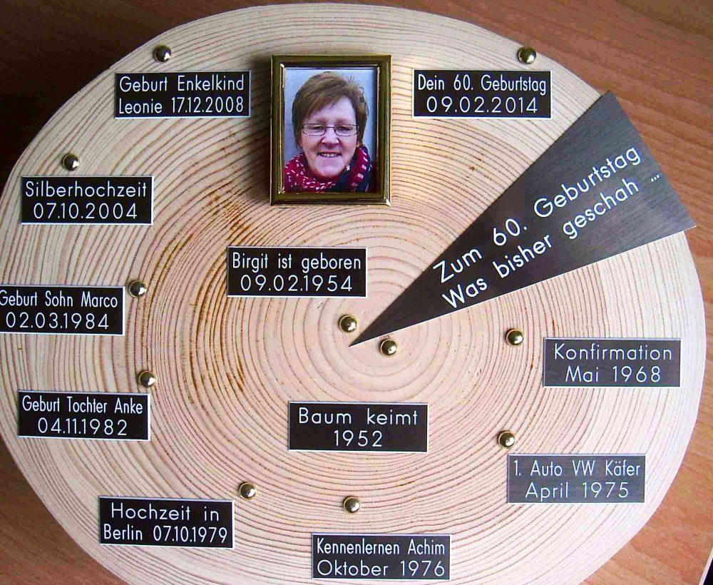 Geschenke Zum 60 Geburtstag Bauers Baumscheiben